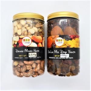 Combo mix hạt 500Gr + quả sấy 600gr Calinuts